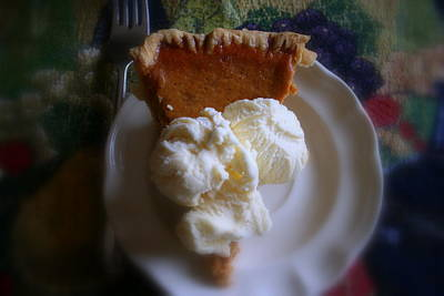 Pumpkin Pie A' La Mode Art Print