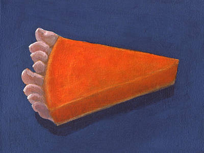 Painting - Pumpkin Pie With Toes  by Kazumi Whitemoon