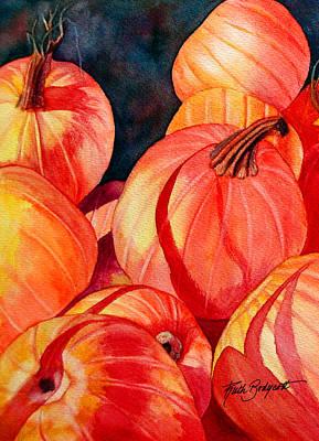 Pumpkin Pile Art Print by Ruth Bodycott