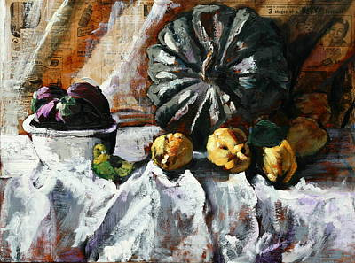 Painting - Pumpkin Pride by Gaye White