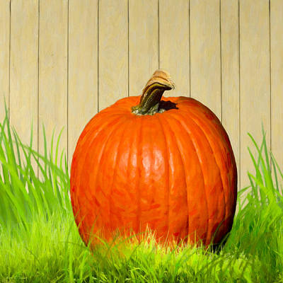 Digital Art - Pumpkin Season by Mark Tisdale