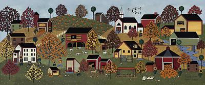 Pumpkin Season Art Print by Medana Gabbard