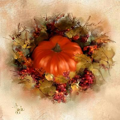 Pumpkin Mixed Media - Spiced Pumpkin  by Colleen Taylor