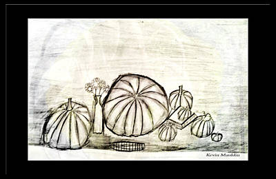 Drawing - Pumpkin Still Life by Marie Jamieson
