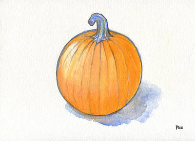 Painting - Pumpkin Study by Roz Abellera Art