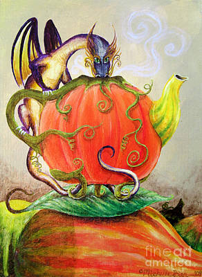 Wine Beer And Alcohol Patents - Pumpkin Tea Dragon by Michelle Bien