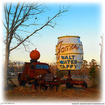 Digital Art - Pumpkin Truck And Salt Water Taffy by K Scott Teeters