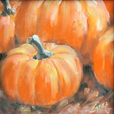 Painting - Pumpkin815141 by Linda Eades Blackburn