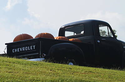Georgia Photograph - Pumpkins And Chevy by Cathy Lindsey
