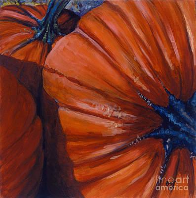 Pumpkins Art Print by Betsee  Talavera