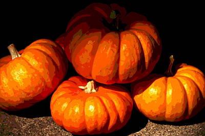 Christina Digital Art - Pumpkins by Christina Ochsner