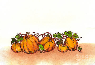 Painting - Pumpkins by Nan Wright