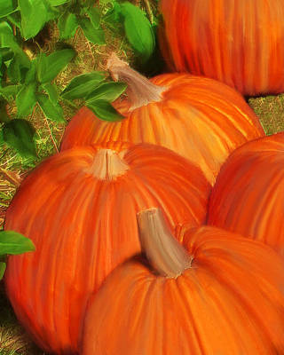 Pumpkins Pumpkins Everywhere Art Print