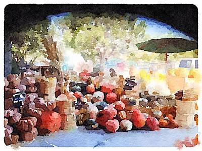Digital Art - Pumpkins by Shannon Grissom