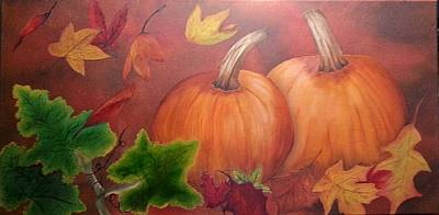 Painting - Pumpkins by Valorie Cross