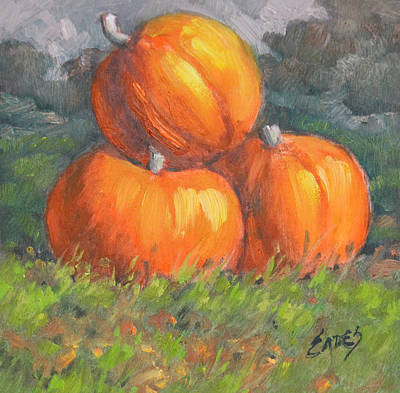 Painting - Pumpkins815143 by Linda Eades Blackburn