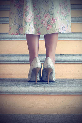 Pumps On Steps Art Print by Joana Kruse