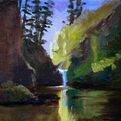 Punch Painting - Punch Bowl Falls by Nancy Merkle