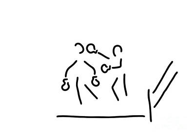 Black Ring Drawing - Punch Boxer Boxing Match by Lineamentum