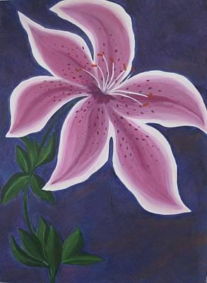 Punctilious Pink Daylily Original by Deborah Schuster