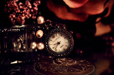 Clock Photograph - Punctuality by VRL Art