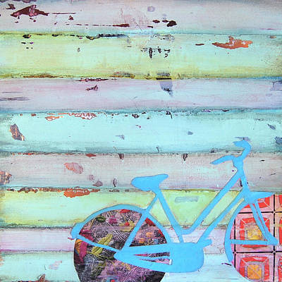 Old Mixed Media - Punctured Bicycle by Danny Phillips