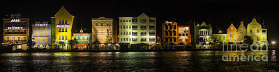 Photograph - Punda At Night Panoramic by Louise Magno