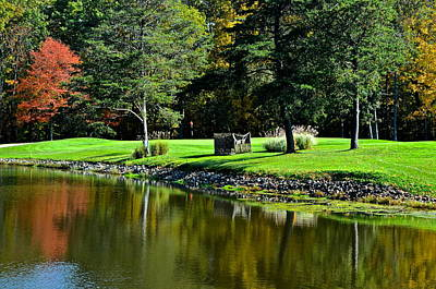 Augusta Golf Photograph - Punderson Golf Course by Frozen in Time Fine Art Photography