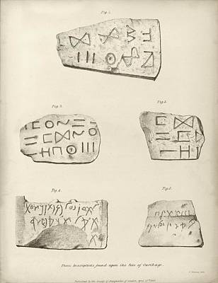 Punic Inscriptions From Carthage Print by Middle Temple Library