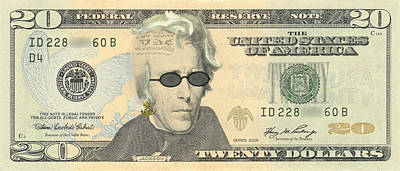 Digital Art - Punk 20 Dollar Bill by Robert Kernodle