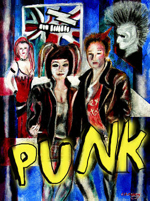 Painting - Punk Style by Tom Conway