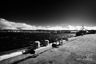 Muelle Photograph - Punta Arenas Pier And Port View Chile by Joe Fox