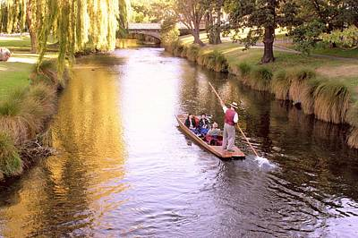 Photograph - Punting In New Zealand by David Rich
