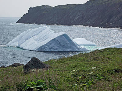 Pup Digital Art - Pup Tent Iceberg Seen From Long Point In Saint Anthony In Newfoundland-canada by Ruth Hager