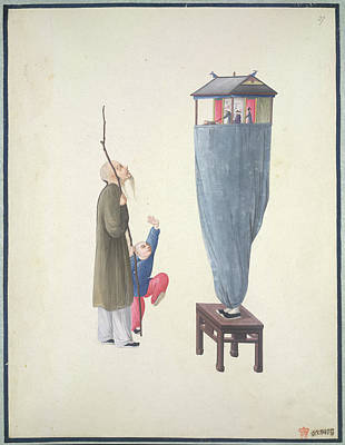 Puppets Photograph - Puppet Show by British Library