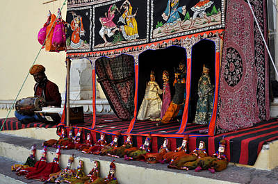 Puppet Show City Palace Jaipur India Art Print by Diane Lent
