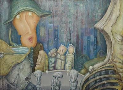 Puppet Theatre Art Print by Slobodan Loncarevic