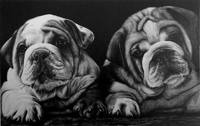 Puppies Original by Jerry Winick