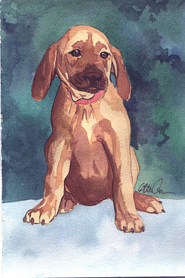 Puppies Mixed Media - Puppy by Christine Callahan