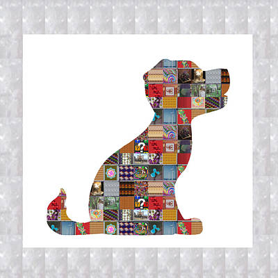 Engagement Painting - Puppy Dog Showcasing Navinjoshi Gallery Art Icons Buy Faa Products Or Download For Self Printing  Na by Navin Joshi