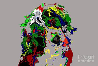 Puppy Dog Print by Skip Willits