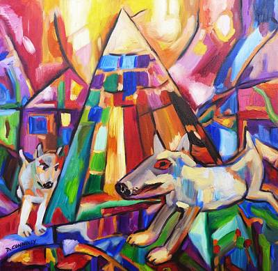 Painting - Puppy Fun In Tent City by Dianne  Connolly