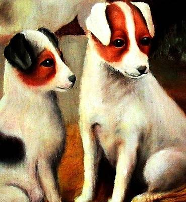 Painting - Puppy Love 2 by Hazel Holland