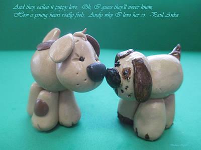 Puppies Digital Art - Puppy Love by Barbara Snyder