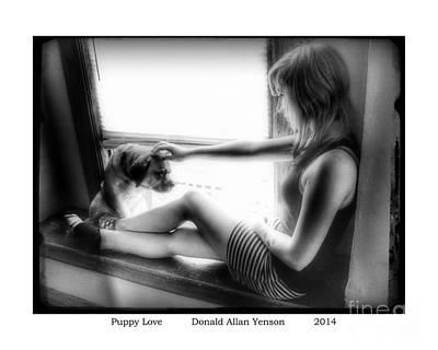 Puppy Love Art Print by Donald Yenson