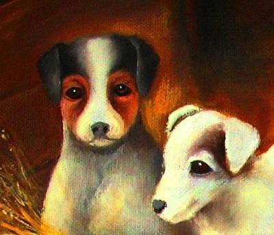 Painting - Puppy Love 1 by Hazel Holland