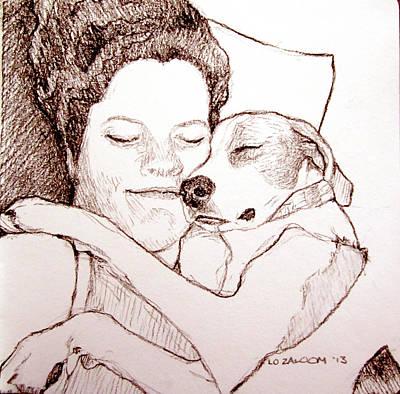 Puppy Love Art Print by Lorraine Zaloom