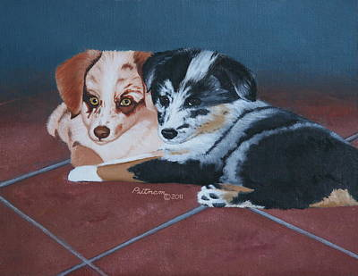Painting - Puppy Love by Michael Putnam