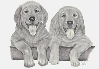 Puppy Love Art Print by Patricia Hiltz