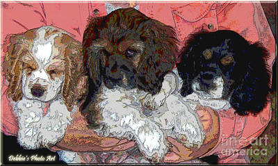 Puppy Love  Sugar         Little Bear And Peanut Art Print by Debbie Portwood